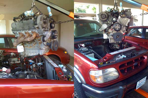 Ford explorer engine replacement